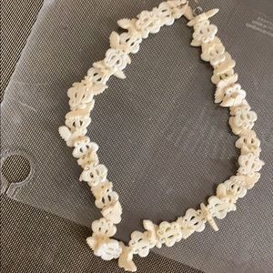 Antique Hand carved Bone Neclace